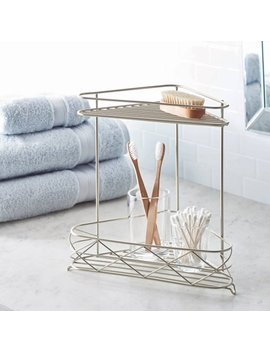 Better Homes And Gardens Free Standing Bathroom Corner Storage Shelves, 2 Tier, Satin by Better Homes And Gardens