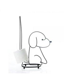 Sitting Dog Toilet Tissue Holder In Chrome by Taymor