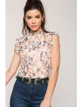 Lena Printed Lace Tee by A'gaci