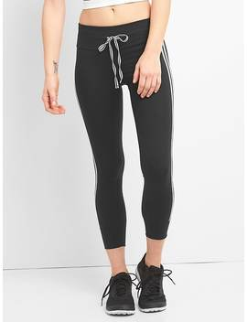 G Fast Blackout High Rise Leggings With Side Stripes by Gap