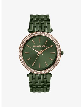 Darci Pavé Olive Tone Watch by Michael Kors
