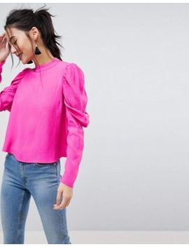 Asos Boxy Top With Exaggerated Sleeve by Asos Collection