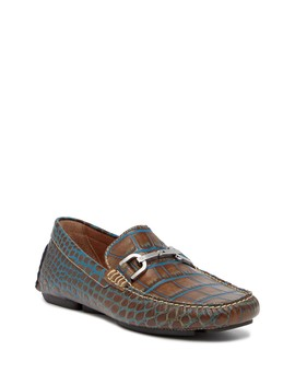 Viro Croc Embossed Loafer by Donald Pliner