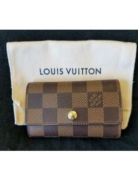 Louis Vuitton 6 Key Holder Damier Ebene Chain Fob Wallet Card Case Holder by Louis Vuitton