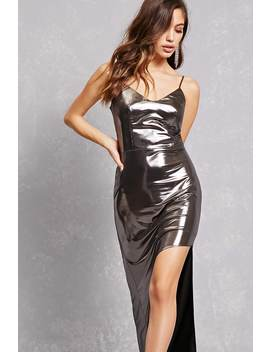 Metallic High Low Dress by Forever 21