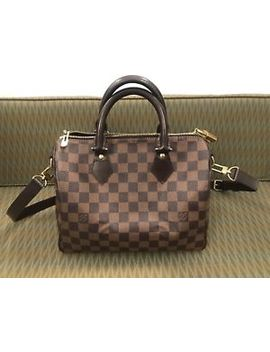 Louis Vuitton Damier Ebene Speedy Bandouliere 25 by Louis Vuitton