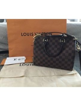 2017 Louis Vuitton Speedy 25 Bandouliere Damier Ebene Made In France by Louis Vuitton