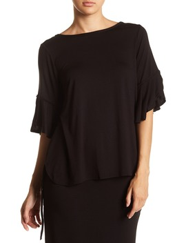 Flutter Sleeve Tee by Max Studio