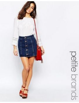 New Look Petite Button Up Denim Skirt by New Look Petite
