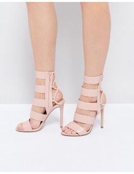 Aldo Hawaii Pink Lace Back Heeled Strappy Sandals by Aldo