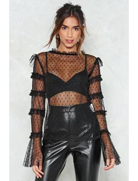 Chin Up Mesh Top by Nasty Gal