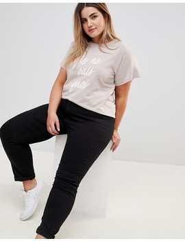 New Look Curve Logo T Shirt by New Look Curve