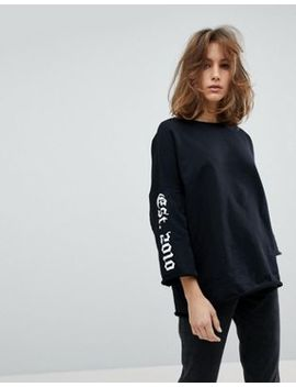 Moss Copenhagen Sweatshirt With Flare Sleeve by Moss Copenhagen