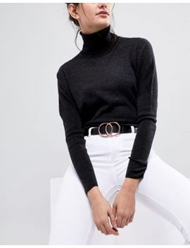 Asos Double Circle Waist & Hip Belt With Rose Gold Fittings by Asos Collection