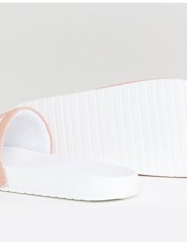 Calvin Klein Viggo Sliders In Pink by Calvin Klein
