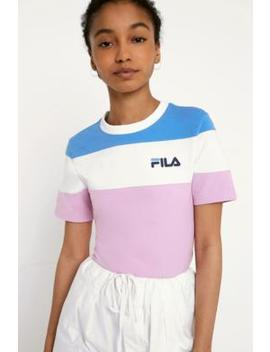 Fila Maya Cut & Sew Crop T Shirt by Urban Outfitters