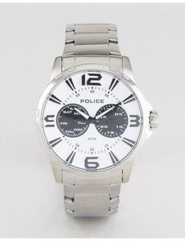 Police Visionary Watch In Stainless Steel by Watch