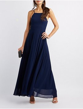 Lace Up Back Maxi Dress by Charlotte Russe