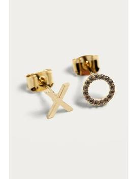 Estella Bartlett Xo Gold Plated Stud Earrings by Urban Outfitters
