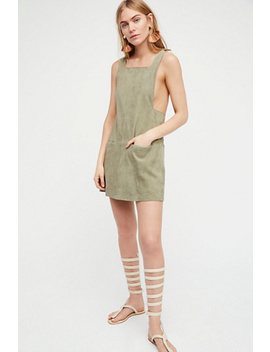 Square Neck Suede Mini Dress by Free People