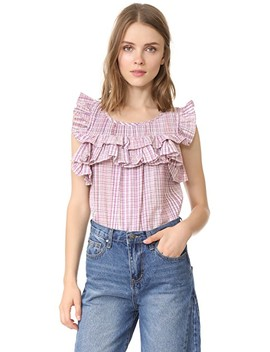 Short Sleeve Plaid Top by La Vie Rebecca Taylor