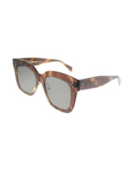 Celine Square Cl 41444 Kim 07 B Women Brown Havana Frame Grey Lens Sunglasses by Celine