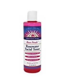 Rosepetals Rosewater Facial Toner Heritage Store 8 Oz Liquid by Heritage Products