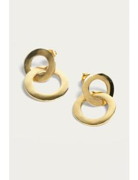 Made Double Ring Stud Earrings by Urban Outfitters
