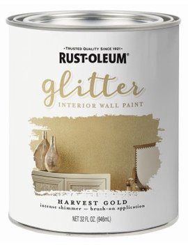 Rust Oleum 323859 Glitter Brush On Paint, Gold, Qt.   Quantity 2 by Rust Oleum