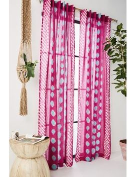 Bandi Dotted Curtain by Anthropologie