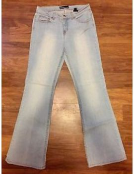 Bebe Low Rise Stretch Fit Flare Jeans Size 30 Inseam 32 Light Blue by Bebe