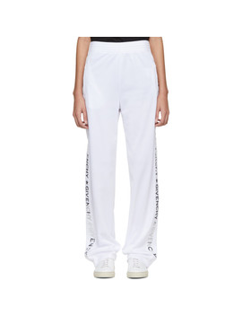 White & Silver Logo Lounge Pants by Givenchy