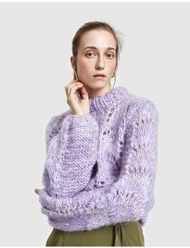 The Julliard Mohair Pullover In Lilac by Need Supply Co.