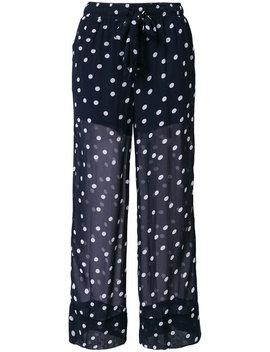 Polka Dot Sheer Trousers by Ganni