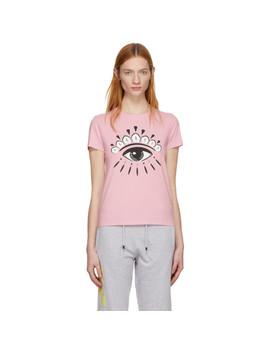 Pink Eye Logo T Shirt by Kenzo