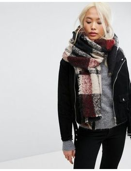 Stitch & Pieces Oversized Check Scarf by Stitch & Pieces