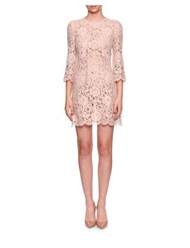 3/4 Sleeve Lace Cocktail Dress by Dolce & Gabbana