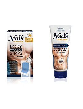 Nad's For Men Hair Removal (Cream + Strips (Combo)) by Nad's
