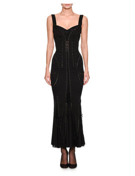 Sweetheart Neck Sleeveless Corset Style Cocktail Dress by Dolce & Gabbana