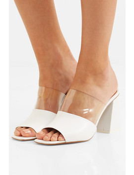 Benzi Paneled Leather And Perspex Mules by Neous