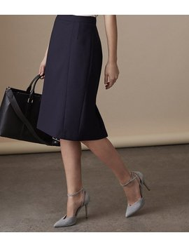 Faulkner Fluted Skirt by Reiss
