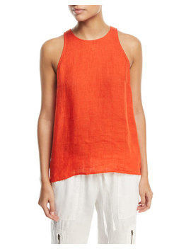Dany Sleeveless Button Back Linen Top by Joie