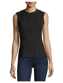 Spring Boucle Seamed Shell Top by Theory