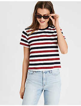 Ae Striped Crew Neck T Shirt by American Eagle Outfitters