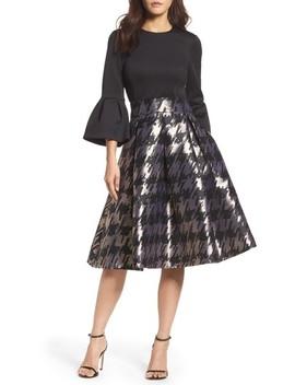 Metallic Jacquard Midi Skirt by Eliza J