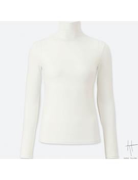 Women Hpj Ai Rism High Neck Long Sleeve T Shirt Shirt by Uniqlo