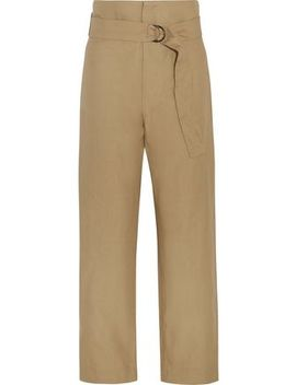 Owel Cotton And Linen Blend Wide Leg Pants by Isabel Marant
