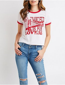 San Francisco Is For Lovers Ringer Tee by Charlotte Russe
