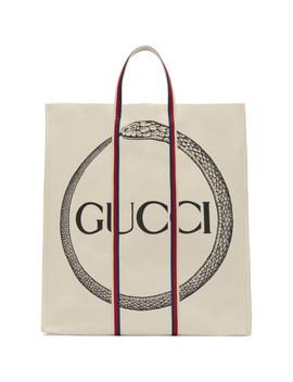 Cabas à Logo Blanc Cassé Ouroboros by Gucci