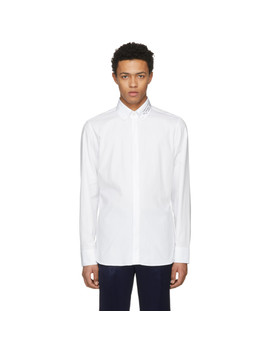 Chemise Blanche Embroidered Collar by Gucci
